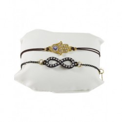 Fatma's Hand Brown Leather Bracelet