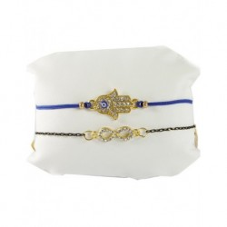 Leather Bracelet Dark Blue