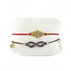 Fatma's Eli Ugurlu Double Bracelet Red Color