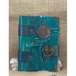 Medium Leather Coated Green Book