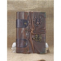 Coated Leather Medium Brown spider Book