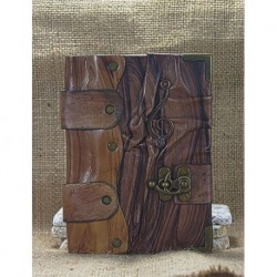 Medium Brown Leather Covered Book