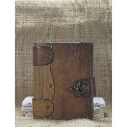 Small Straight Brown Leather Covered Book
