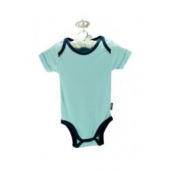 Baby Center Yarım Kollu Lacivert Kenarlı Mavi Badi