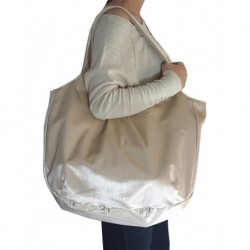 Design Cream Velor Velvet Bag