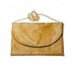 Design Mustard Colored Chain Shoulder Bag