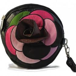 Leather Black Brown Güllü Small Hand Bag