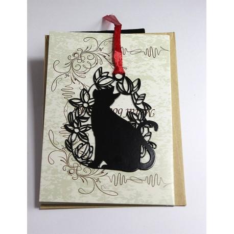 Kitap Ayracı Siyah Kedi