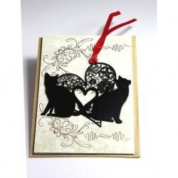 Kitap Ayracı Aşık Kediler