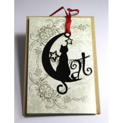 Kitap Ayracı Ayda Oturan Kedi