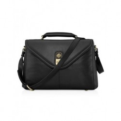 "Marshall Bergman Lily Leather Bag 13""- Blac"