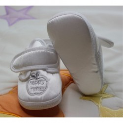 White Male Baby Booties