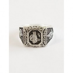 Square Silver Plated Men Ring