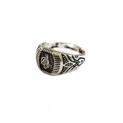 Silver Plated Oval Men Ring