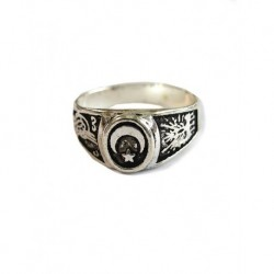 Silver Plated Men Ring Round