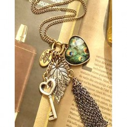 Switched Heart Long Necklace