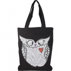 Design Jeans Printed Bag Black Color Owls