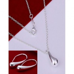 Silver Team Necklace And Earrings Set