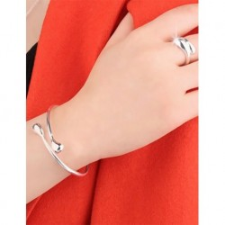 Silver Pendant and Ring Set
