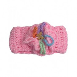 Baby Hair Band In Pink Crochet With Butterfly