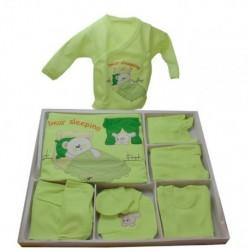 Bebekler İçin Hastane Çıkışı Yeşil 11 Parça Set