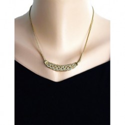 Chanel Model Yılan Zincirli Kristal Taşlı Kolye