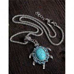 Silver Plated Turtle Shaped Necklace