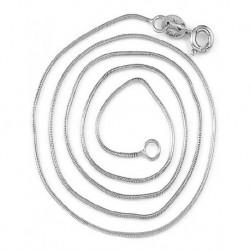 Silver Round Link Chain