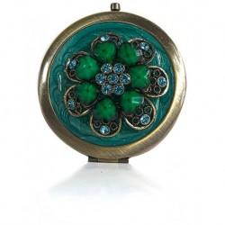 tone Green Embroidered Small Mirror