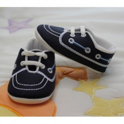Navy Blue Baby Boy Bootie