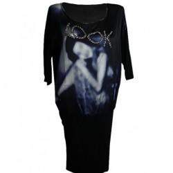 Mango Look Written With Crystal Stones Dress