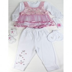 Pembe Renk Kız Bebek Seti