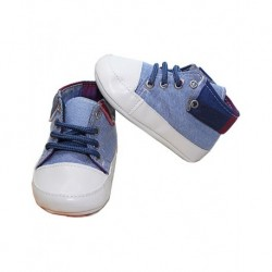 Blue Sports Boys Baby Booties