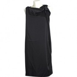 Mango Black Navy Asymmetric Dress