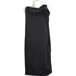 Mango Siyah Lajivert Asimetrik Elbise