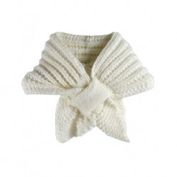 Baby Scarf White Wool