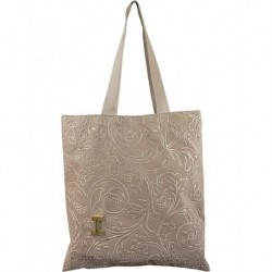 Design Brown Velvet Woven Rectangular Bag