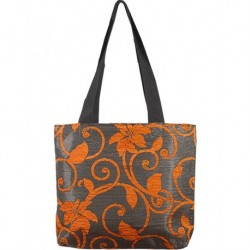Design Textured Orange Bag