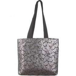 Design on Black Metallic Textured Fabric Bag