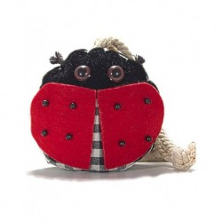 We Pufi Ladybug Shaped Keychain