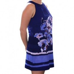 Dress Navy With Blue Flowers By Zero