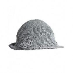 Bayan Şapka Gri Renk Merserize
