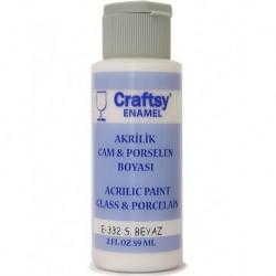 Glass and Porcelain Enamel Acrylic Paint Craftsy E-332 S.White