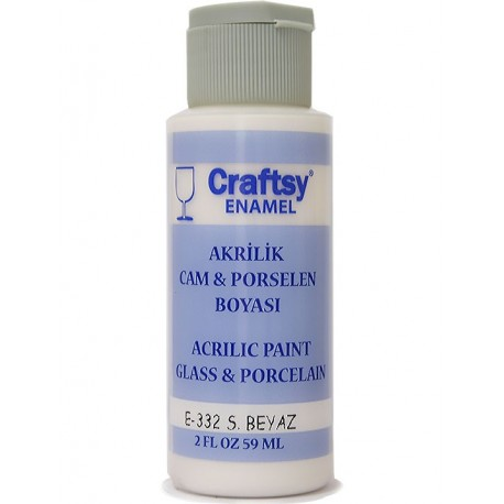 Glass and Porcelain Enamel Acrylic Paint Craftsy E-332 S.White