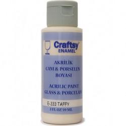Craftsy Enamel Akrilik Cam Ve Porselen Boyası E-333 Taffy