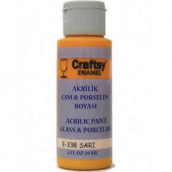 Glass and Porcelain Enamel Acrylic Paint Craftsy E-338 Yellow