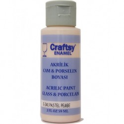 Glass and Porcelain Enamel Acrylic Paint Craftsy E-341 Pastel Pink