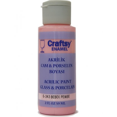 Glass and Porcelain Enamel Acrylic Paint Craftsy E-343 Baby Pink
