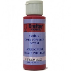 Glass and Porcelain Enamel Acrylic Paint Craftsy E-357 Coral Red