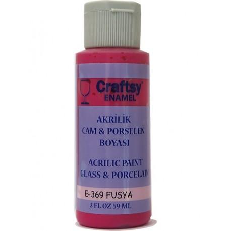Craftsy Enamel Akrilik Cam Ve Porselen Boyası E-369 Fusya
